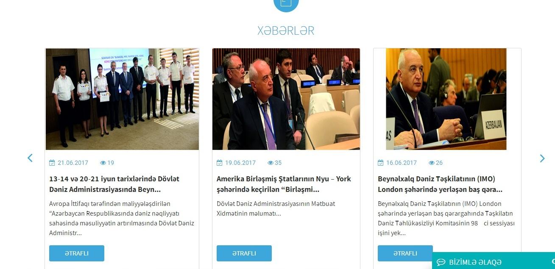 Начал работу новый сайт Морской администрации Азербайджана – ФОТО