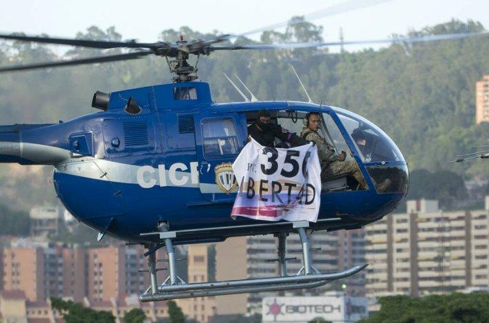 В Венесуэле полицейский вертолет атаковал здание Верховного суда — ФОТО — ВИДЕО
