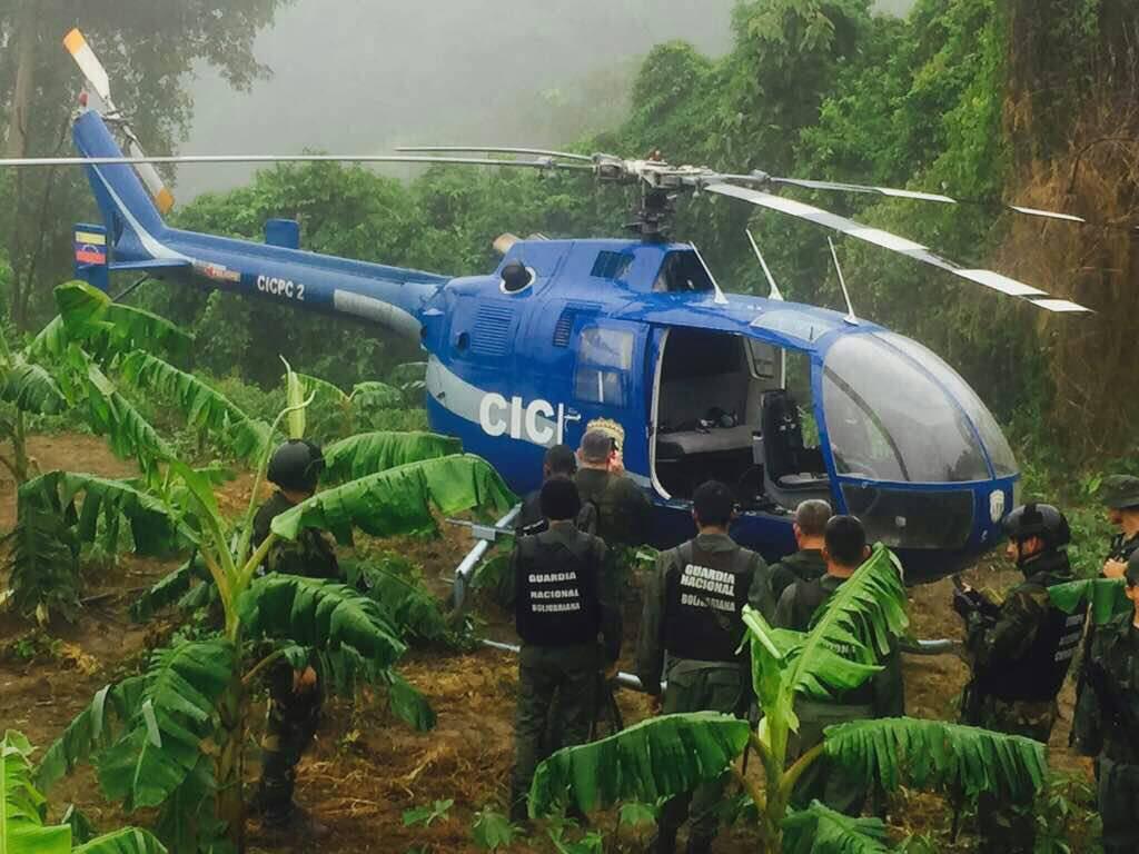 В джунглях Венесуэлы нашёлся вертолёт, с которого атаковали здания МВД и суда — ФОТО