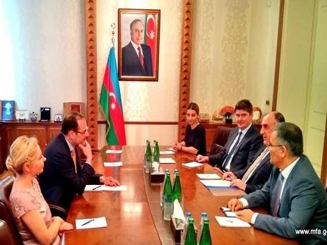 Состоялась встреча главы МИД Азербайджана с директором Внешполитслужбы ЕС