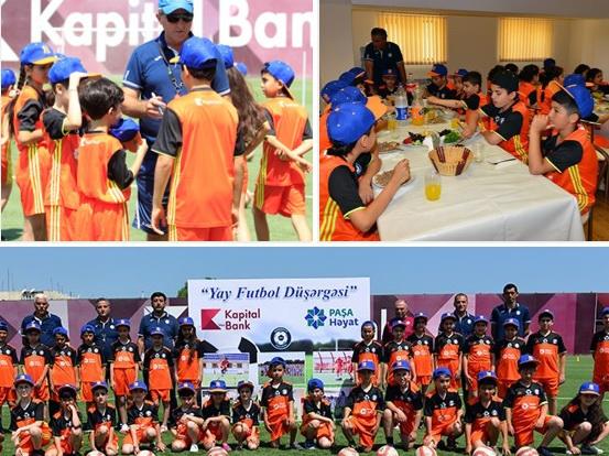 При поддержке Kapital Bank осуществляется традиционный проект «Летний футбольный лагерь»