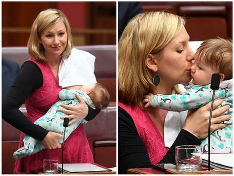 Австралийский сенатор кормила грудью ребенка, выдвигая предложение в парламенте – ВИДЕО