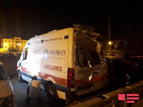 В Баку произошла цепная авария, есть пострадавший