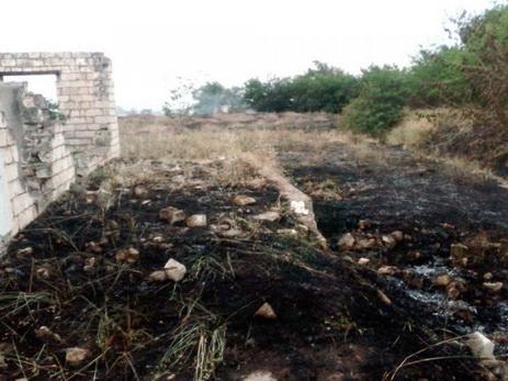 В Агдамском районе в результате армянского обстрела вспыхнул пожар