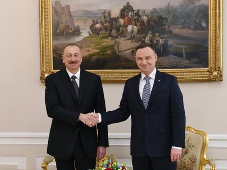 Состоялась встреча президентов Азербайджана и Польши один на один