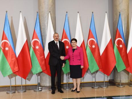 В Варшаве состоялась встреча Президента Азербайджана и премьер-министра Польши