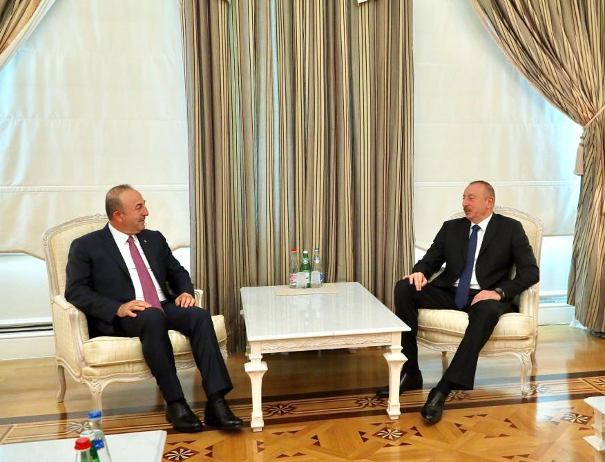 Ильхам Алиев принял главу МИД Турции  — ФОТО