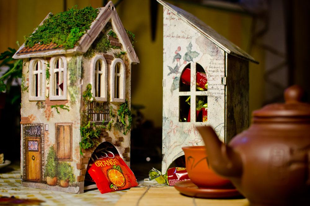 Идея для подарка – чайный домик для росписи