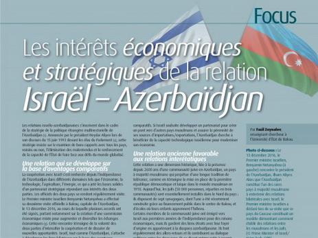 Авторитетное зарубежное издание рассказало об израильско-азербайджанском сотрудничестве — ФОТО