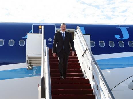 Президент Ильхам Алиев прибыл с официальным визитом в Латвию