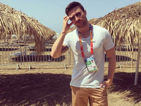 Сергей Лазарев на побережье Каспийского моря — ФОТО