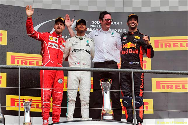Гран-при Бельгии: Хэмилтон выиграл гонку и сократил отставание от Феттеля