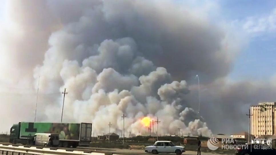 Последствия пожара на оружейном складе — ФОТОРЕПОРТАЖ