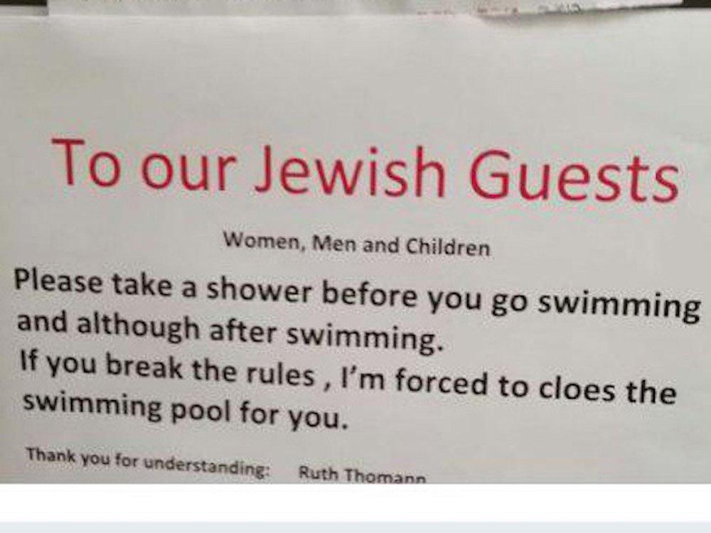 Швейцарский отель раскритиковали за требование к евреям мыться перед бассейном