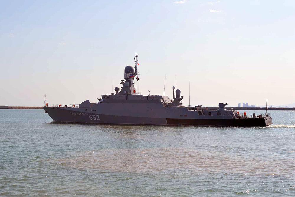 Военные корабли России покинули Бакинский порт - ФОТО