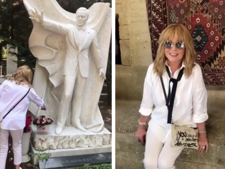 Алла Пугачева посетила могилу Муслима Магомаева – ВИДЕО