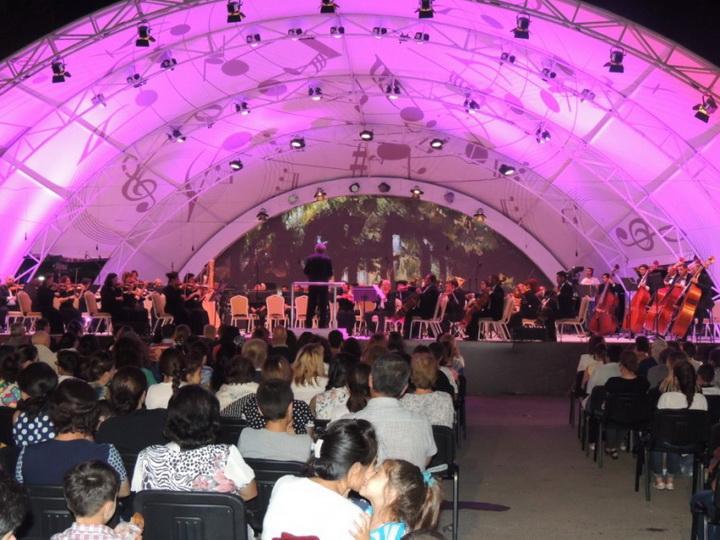 В рамках Габалинского международного музыкального фестиваля состоялся концерт Азербайджанского государственного симфонического оркестра - ФОТО
