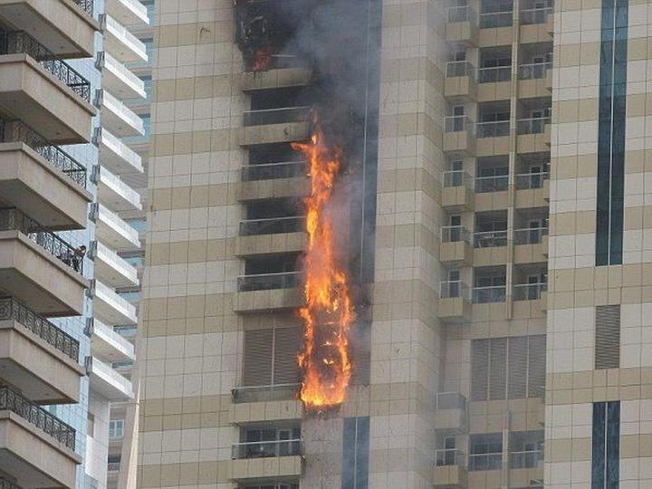 В Дубае загорелся второй за неделю небоскреб