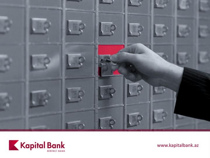 Kapital Bank в филиале «Гянджа» предлагает аренду депозитных сейфов