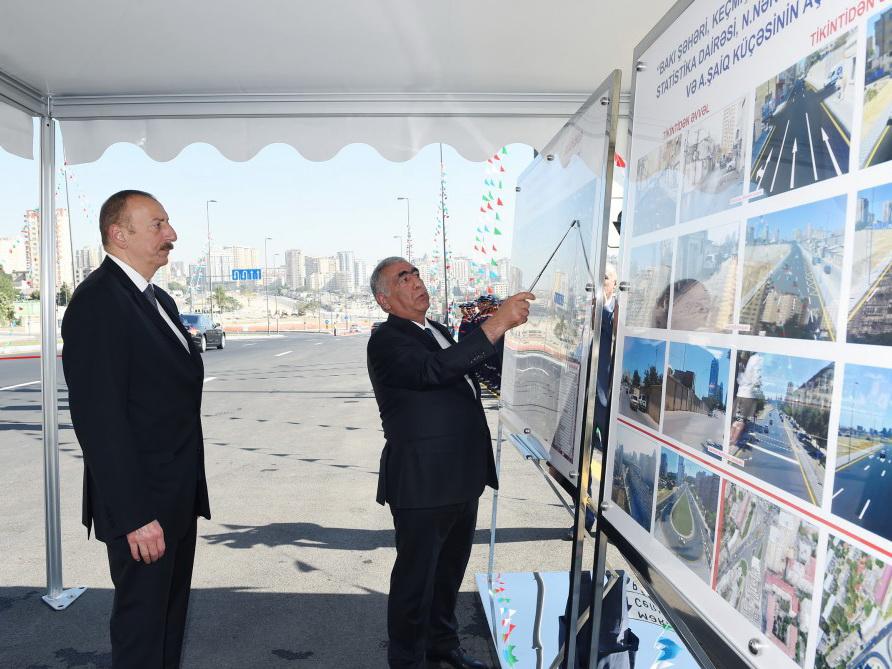Президент Ильхам Алиев принял участие в открытии новых дорог на территории бывшей «Советской» - ФОТО