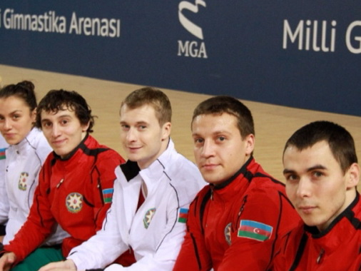 Сборная Азербайджана по прыжкам на батуте завоевала серебро на Кубке мира