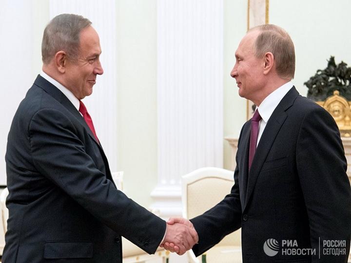 Нетаньяху обсудит с Путиным перспективу присутствия Ирана в Сирии