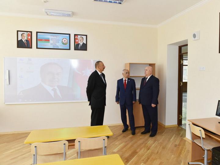 Ильхам Алиев принял участие в открытии нового корпуса школы №257 в Баку – ФОТО
