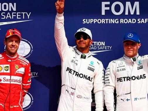 Гран-при Бельгии. Квалификация: Хэмилтон выиграл 68-й поул, Феттель 2-й, Боттас 3-й — ФОТО