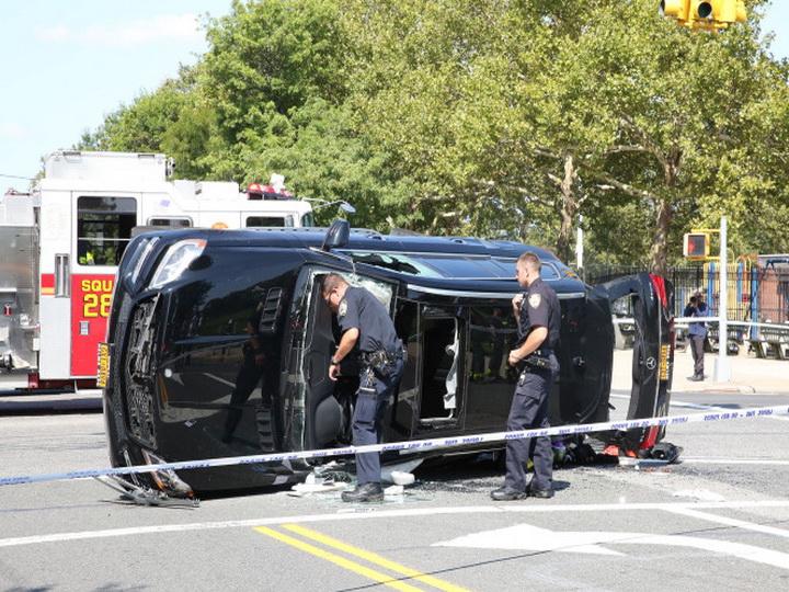 В Нью-Йорке семь человек пострадали в ДТП с участием пожарного автомобиля