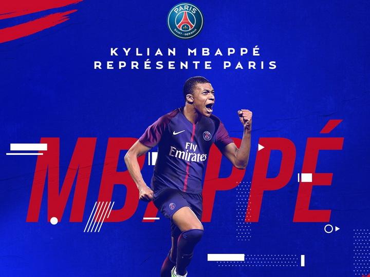 «ПСЖ» объявил о переходе Мбаппе из «Монако»