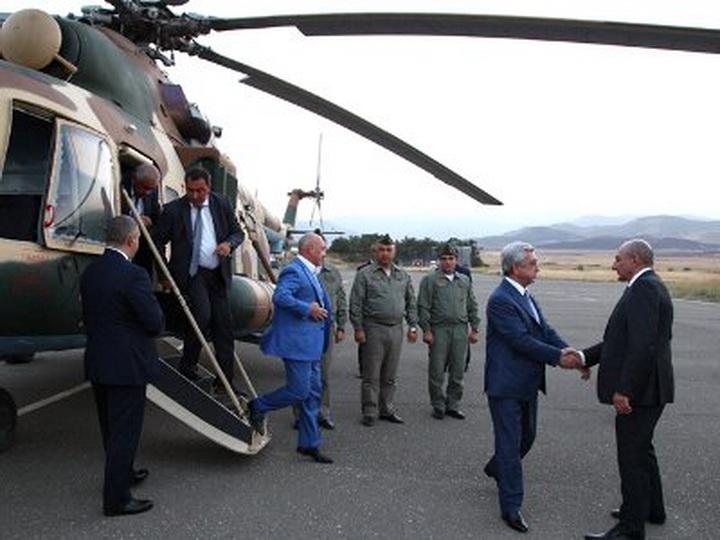 Президент Армении прибыл на оккупированные территории Азербайджана