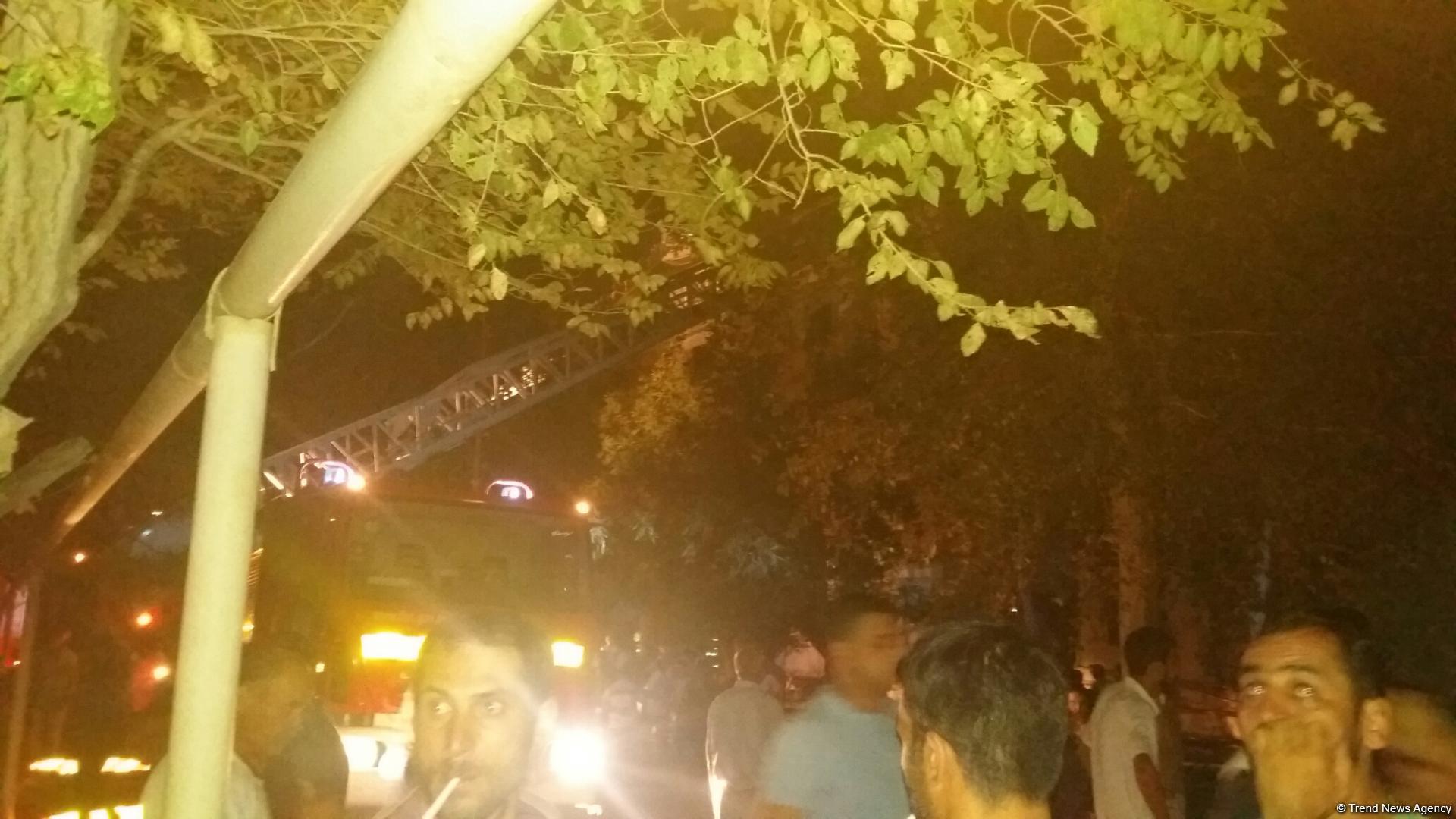 МЧС: Погибших во вчерашнем пожаре в Сумгайыте нет - ФОТО - ОБНОВЛЕНО