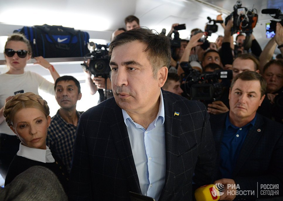 Украинские пограничники заблокировали КПП, где находится Саакашвили — ФОТО — ОБНОВЛЕНО