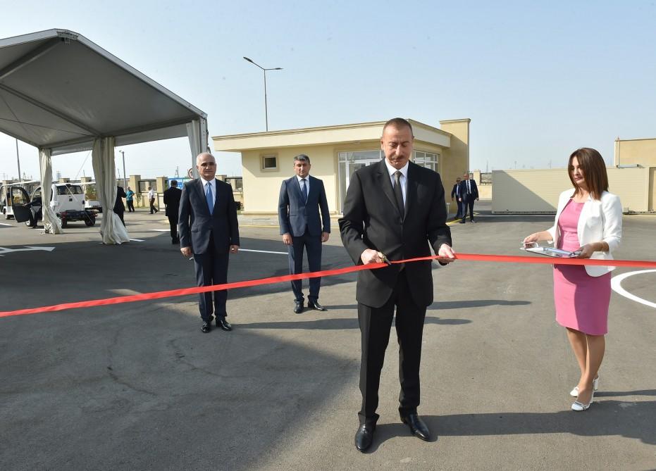Ильхам Алиев принял участие в открытии Балаханского промышленного парка — ФОТО