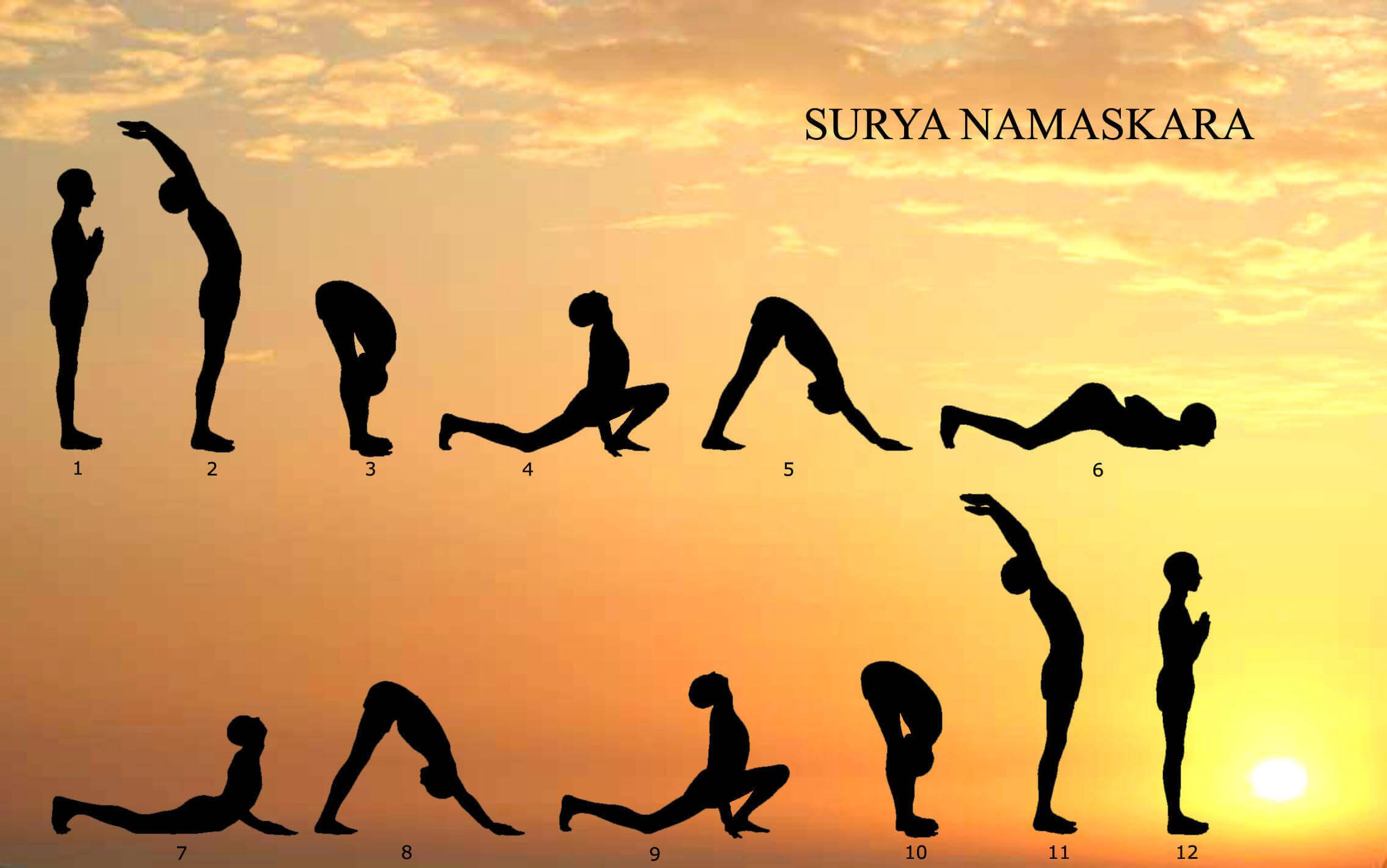 Йога комплекс приветствие Солнца