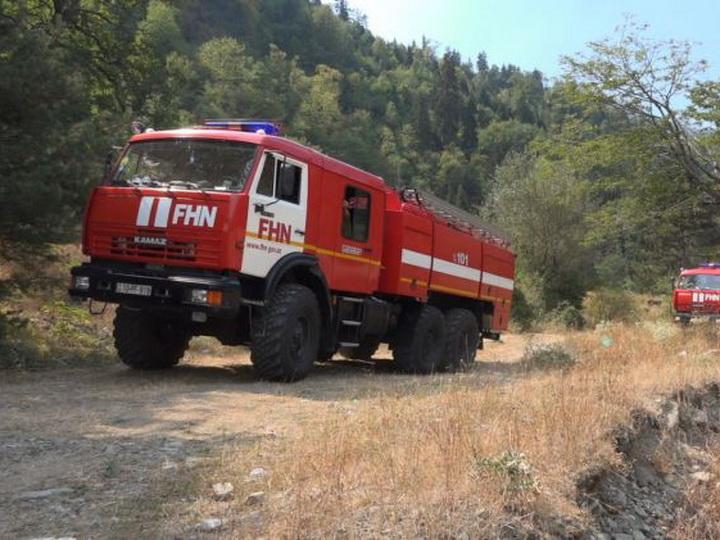 Силы МЧС приступили к тушению пожаров в Габалинском районе