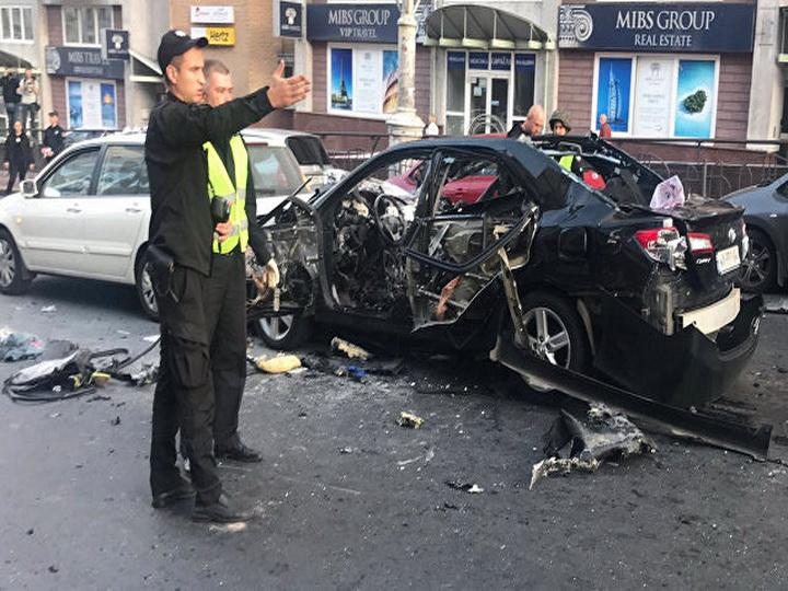 В центре Киева взорвался автомобиль - ФОТО - ВИДЕО