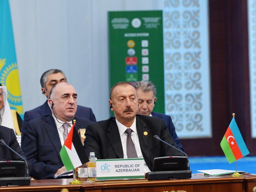 Президент Ильхам Алиев принимает участие в первом саммите ОИС по науке и технологиям в Астане — ФОТО