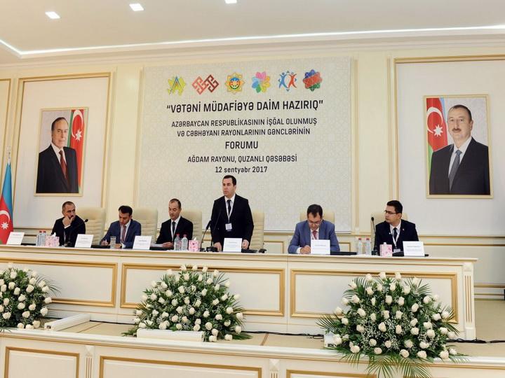 Cостоялся форум молодежи оккупированных и прифронтовых районов Азербайджана на тему «Мы всегда готовы к защите Родины» - ФОТО