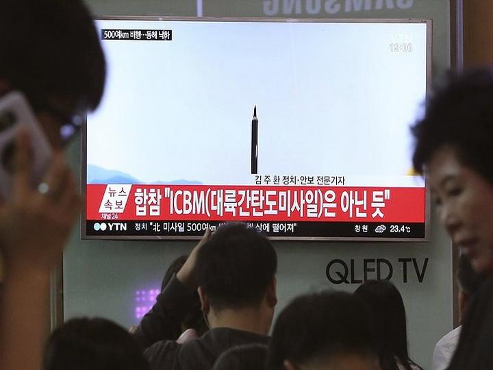 NHK: Северная Корея произвела пуск ракеты в направлении Японии