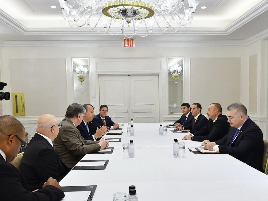 Ильхам Алиев встретился в Нью-Йорке с председателем Фонда этнического взаимопонимания США
