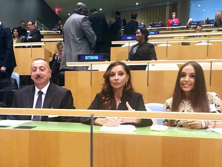 Президент Ильхам Алиев принял участие в открытии общих обсуждений в штаб-квартире ООН