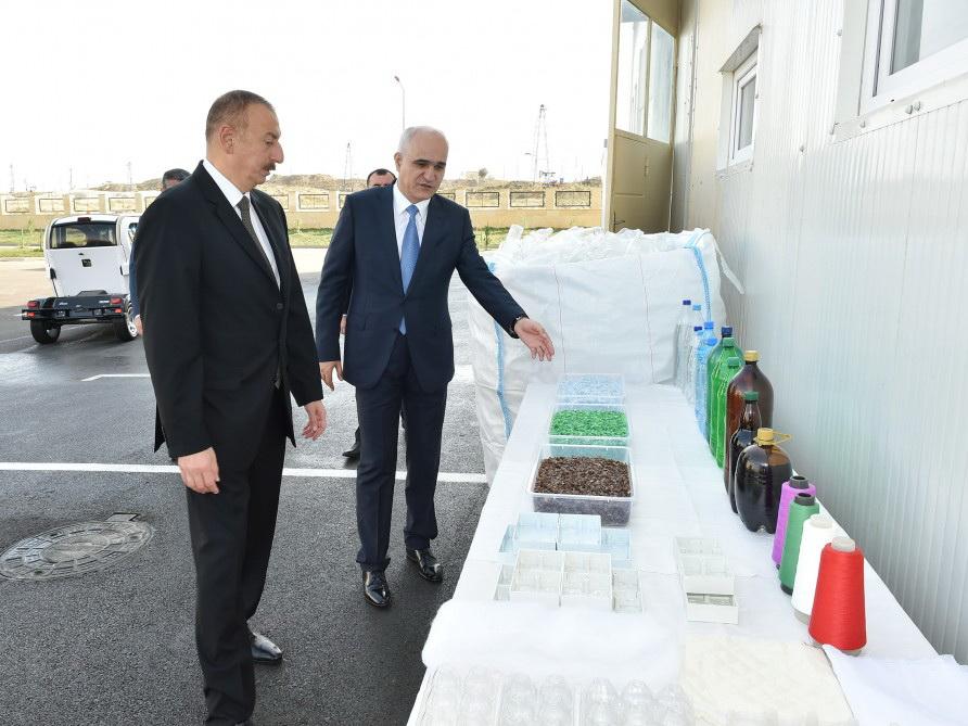Ильхам Алиев принял участие в открытии Балаханского промышленного парка - ФОТО