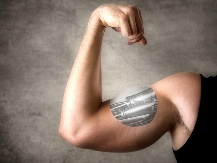 Искусственные мышцы поднимают вес в тысячу раз больше их собственного