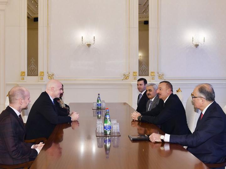 Президент Ильхам Алиев принял президента и генерального секретаря ФИФА — ФОТО
