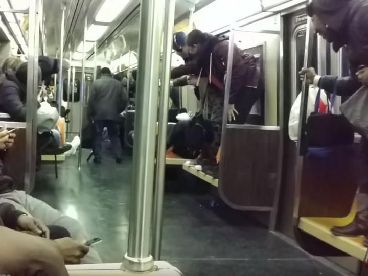 Крыса в вагоне нью-йоркского метро вызвала панику у пассажиров — ВИДЕО