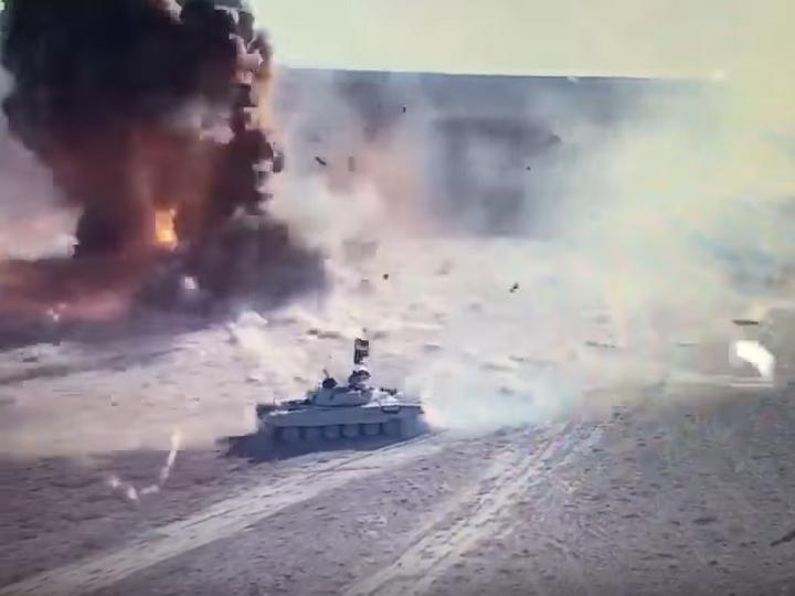 Иракские военные показали дуэль танка и «джихад-мобиля» — ВИДЕО
