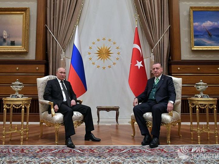 Эрдоган и Путин обсудили ситуацию вокруг Иерусалима