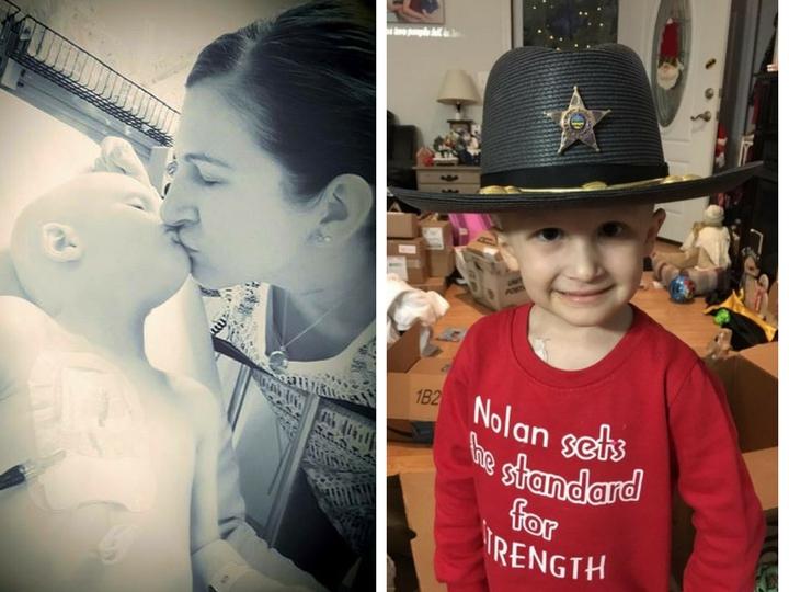 Любовь против рака: последними словами маленького Нолана были «Мамочка, я люблю тебя» — ФОТО