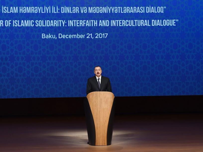 Президент Ильхам Алиев: Азербайджан играет уникальную роль между цивилизациями, религиями и континентами — ФОТО
